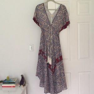 Valiante Anthropologie bohemian dress